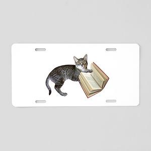 Reading Cat Aluminum License Plate