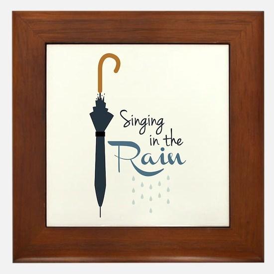 Singing in the Rain Framed Tile