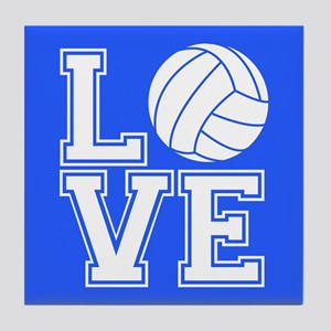 Love Volleyball, Royal Blue1 Tile Coaster