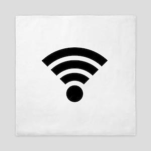 WiFi Symbol Queen Duvet