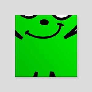 Green Shamrock Face Sticker