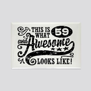 59th Birthday Rectangle Magnet