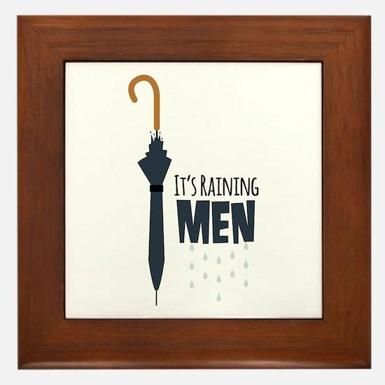 Its Raining Men Framed Tile