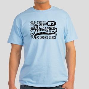 57th Birthday Light T-Shirt