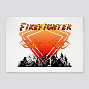 Firefighters Action 5'x7'Area Rug