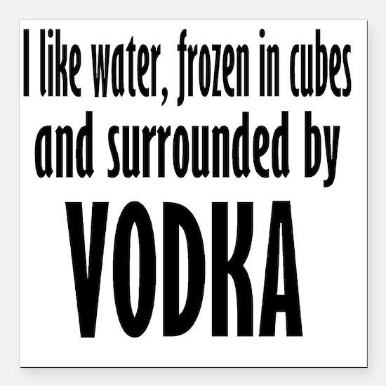 """vodka humor Square Car Magnet 3"""" x 3"""""""
