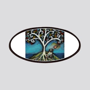 Pug love Tree of Life Patches