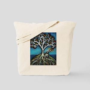Pug love Tree of Life Tote Bag