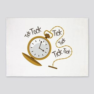 Tick Tock 5'x7'Area Rug