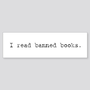 Banned Books Bumper Sticker