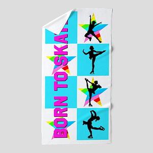 Born To Skate Beach Towel