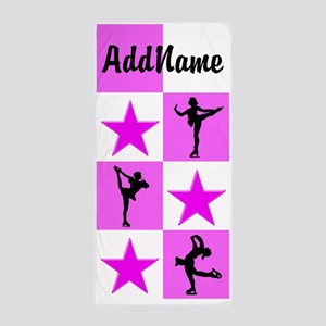 Pretty Pink Skater Beach Towel
