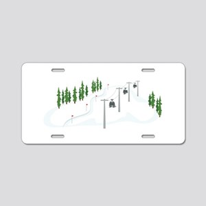 Ski Lift Aluminum License Plate