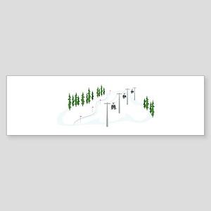Ski Lift Bumper Sticker