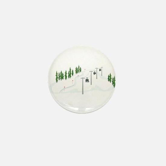 Ski Lift Mini Button