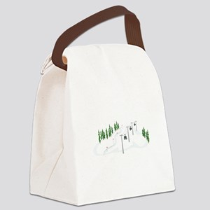 Ski Lift Canvas Lunch Bag