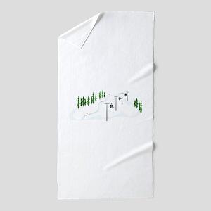 Ski Lift Beach Towel