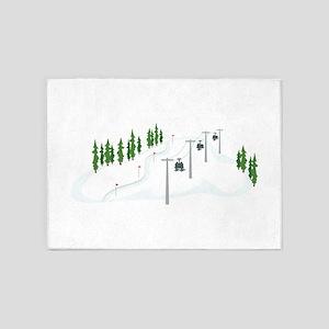Ski Lift 5'x7'Area Rug