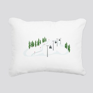 Ski Lift Rectangular Canvas Pillow