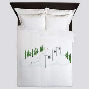 Ski Lift Queen Duvet