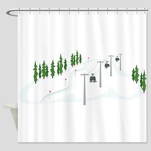 Ski Lift Shower Curtain