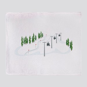 Ski Lift Throw Blanket