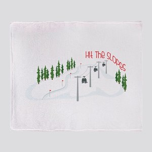 Hit The Slopes Throw Blanket