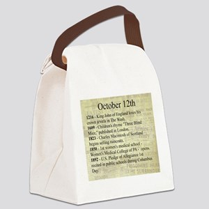 October 12th Canvas Lunch Bag