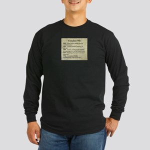 October 9th Long Sleeve T-Shirt