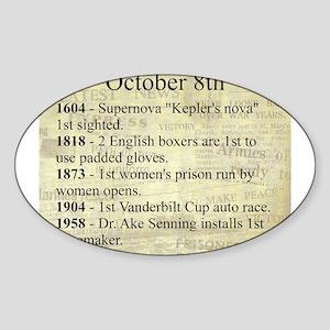 October 8th Sticker