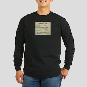 October 3rd Long Sleeve T-Shirt