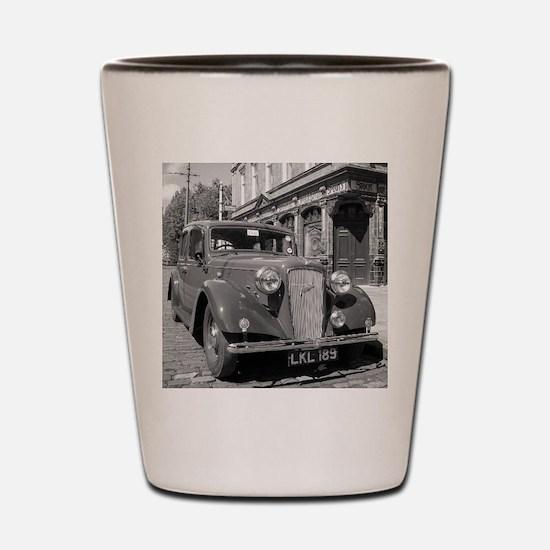 Classic car and English Pub scene Shot Glass