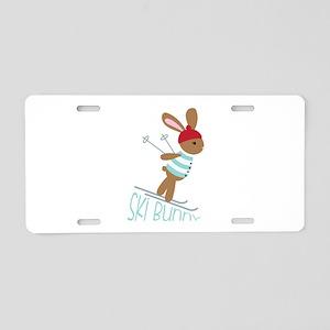 Ski Bunny Aluminum License Plate