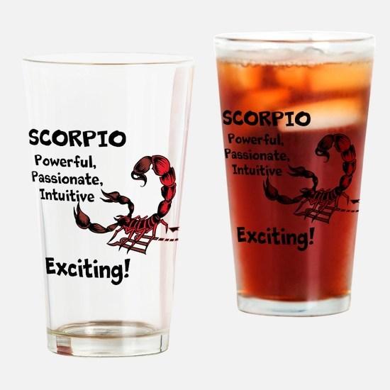Scorpio Drinking Glass