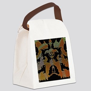 Abstract patterns title number 8 Canvas Lunch Bag