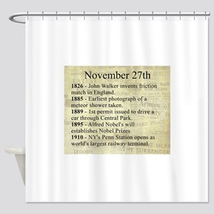 November 27th Shower Curtain