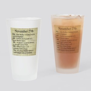 November 27th Drinking Glass