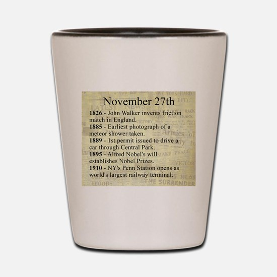 November 27th Shot Glass