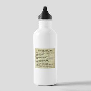 November 27th Water Bottle