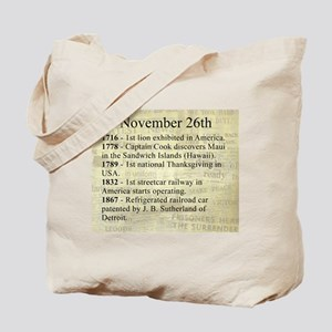 November 26th Tote Bag