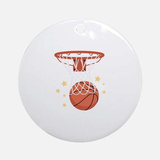 BASKETBALL HOOP Ornament (Round)