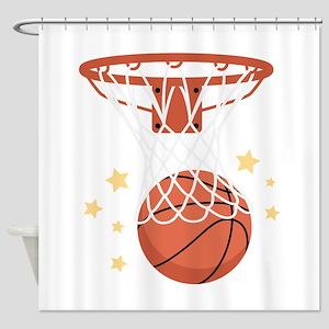 BASKETBALL HOOP Shower Curtain