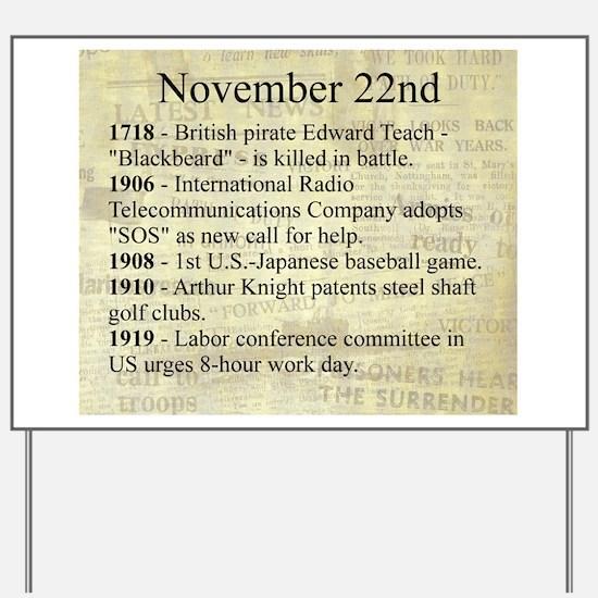November 22nd Yard Sign