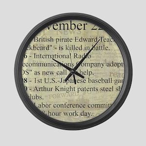 November 22nd Large Wall Clock