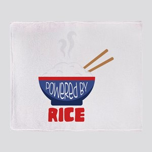 Powered By Rice Throw Blanket