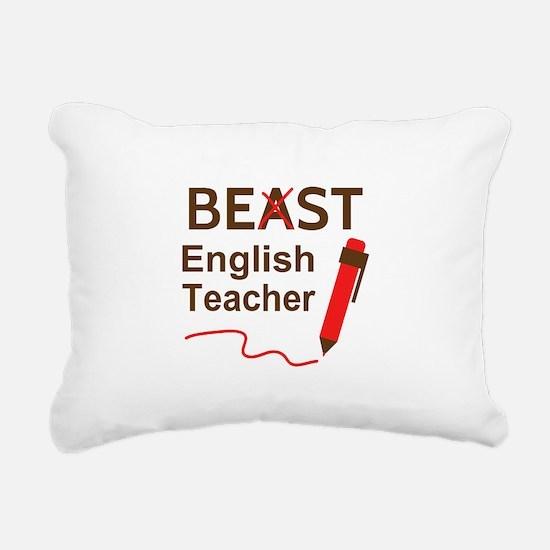 Funny Beast or Best English Teacher Rectangular Ca
