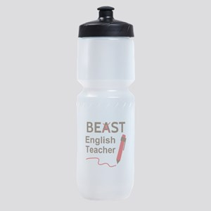 Funny Beast or Best English Teacher Sports Bottle