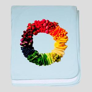 Circle of Fruit n Veg baby blanket
