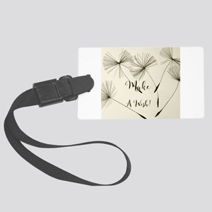 Make a wish design Large Luggage Tag