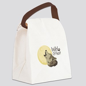 Wild At Heart Canvas Lunch Bag